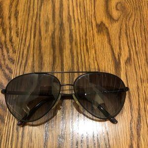 100% authentic PRADA black aviator sunglasses